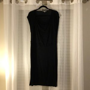 Cabi black cap sleeves dress